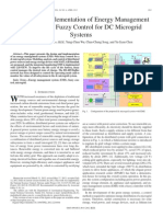Design and Implementation of Energy Management System With Fuzzy Control for DC Microgrid Systems
