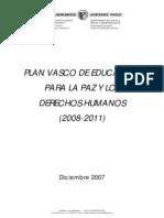 Pllan Vasco de educación para la paz y los derechos humanos 2008-2011