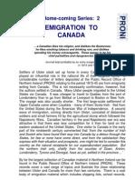 No.3 - Emigration to Canada 34kb