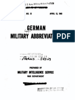 Special Series, No. 12, German Military Abbreviations