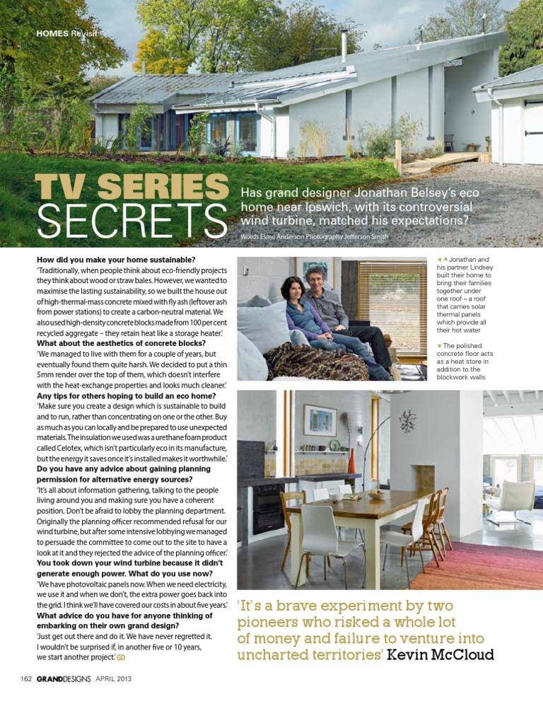 TV Series Secrets, Grand Designs Magazine, April 2013   Wind Power ...