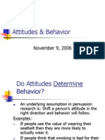 Attitudes Behavior