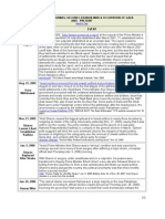 Timeline - Disingagement Hamas, Second Lebanon War and Occupation of Gaza (2005 to Present)