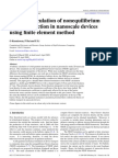 Ballistic Calculation of Non Equilibrium Green's Function in Nanoscale Devices Using Finite Element Method