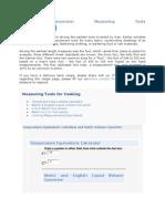 Metric Conversion Measuring Tools