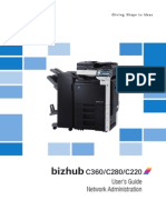 Bizhub c360 c280 c220 Ug Network Administrator en 4 2 0