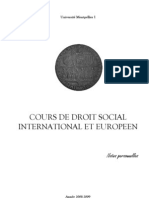Droit social international et européen