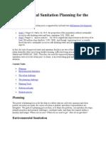 Environmental Sanitation Planning for the Urban Poor 5