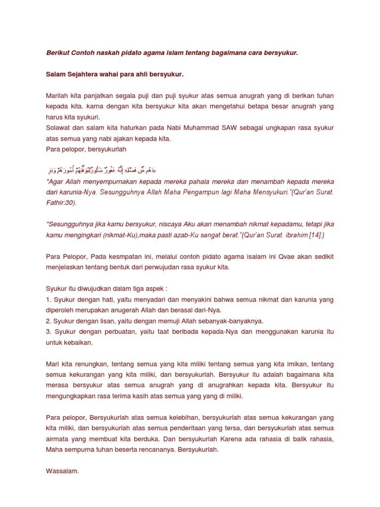 Contoh Teks Pidato Singkat Tentang Agama Islam - Berbagi ...