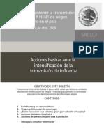 Acciones Basicas Influenza Secretaria de Salud 2