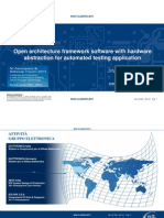 Open architecture framework software with hardware abstraction for automated testing application