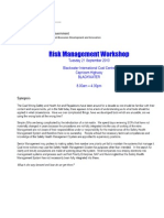 2 Notes From the Risk Management Workshop