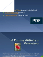 A positive attitude am lead