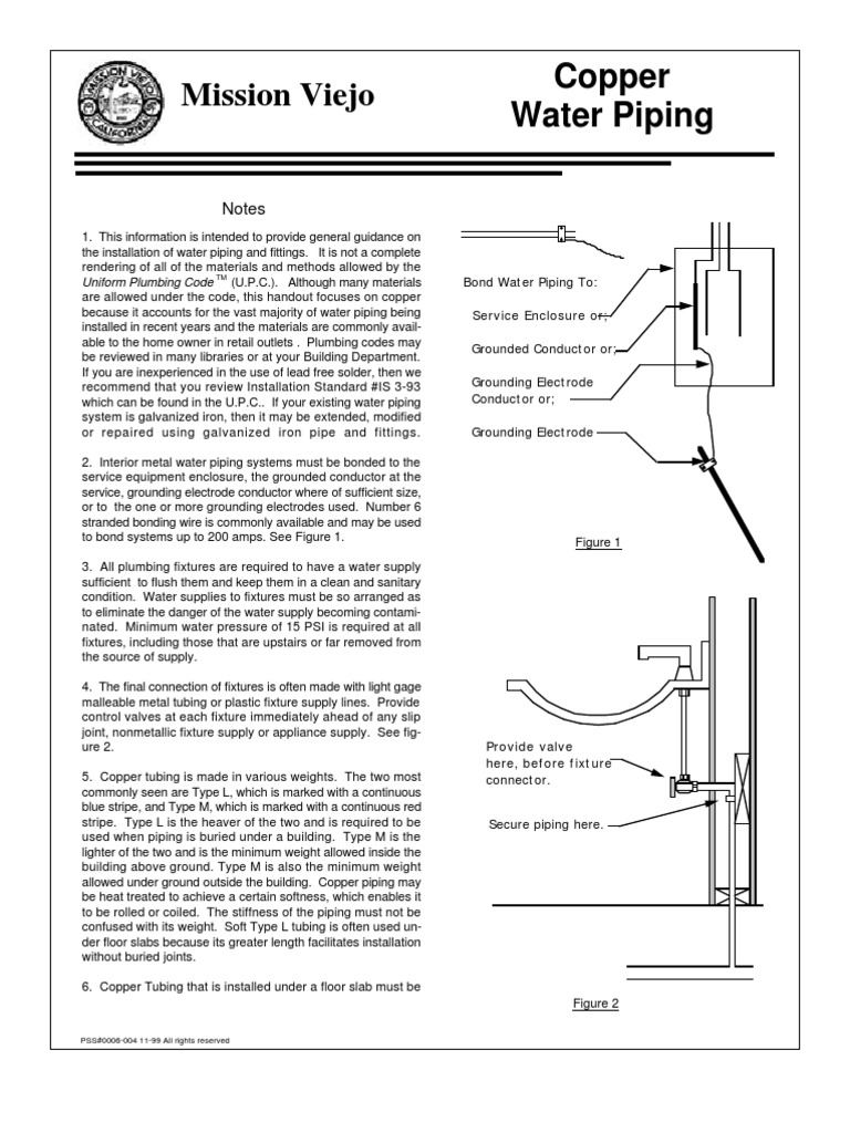Copper water piping water heating plumbing greentooth Gallery