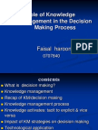 Presentation Role of Knowledge Management in the Decision Making 1224726458829731 9