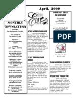 WDC Newsletter April 2009