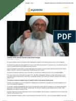Qaeda Chief Annuls Syrian-Iraqi Jihad Merger - Al Jazeera English