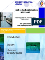 Lecture Week 9-Vision System for Robotics and Automation