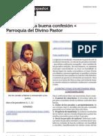 Parroquiadivinopastor.wordpress.com Para Hacer Una Buena Confesi n Parroquia Del Divino Pastor