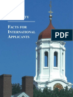 Facts for Int Applicants 2008harvard