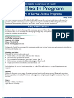 Fact Sheet Dental AccessNorth Dakota Department of Health