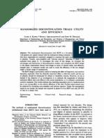 Randomized Discontinuation Trials Utility
