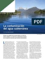 Contamiación de aguas subterráneas