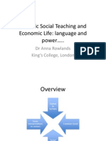 Catholic Social Teaching and Economic Life by Dr Anna Rowlands