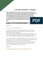 harlem renaissance webquest