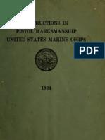 1924 Instructions in Pistol Marksmanship