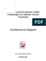Economic Justice Conference 2013 Report