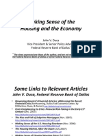 Duca - Federal Reserve of Dallas - Housing and Economy
