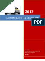 Memorias Depatamento de Transporte 2012