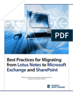Best Practices for Notes Transition White Paper