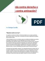 Izquierda contra derecha o nación contra antinación- Enrique Lacolla