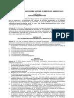 Propuesta de Creación del Sistema Regional de Servicios Ambientales