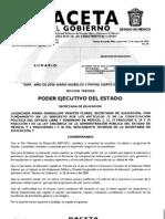 Gaceta Del Gobierno Mayo 13, 2009