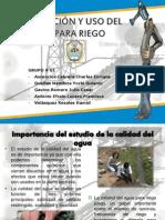 Calidad del agua para Riego.pptx