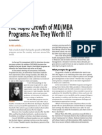 The Rapid Growth of MD/MBA Programs