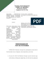 SampleMemorandum CA