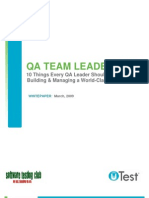 uTest Whitepaper QA Team Leadership