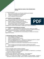 Listado de Preguntas Iso Auditorias Internas2013
