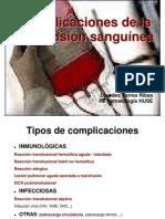 Complicaciones postransfusionales