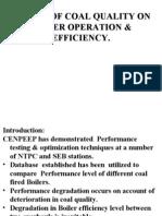 Effect of Coal Quality