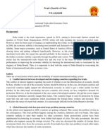 Position Paper - The Future of International Trade After Economic Crisis - China