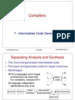 07. Intermediate Code Generation