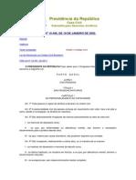 Presidência da República - Código Civil   14-06-2013