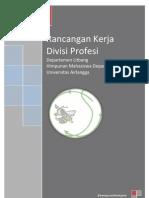 Rancangan Kerja Divisi Profesi