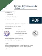Uputstvo Za Tehnicku Obradu Zavrsnih Radova