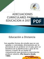 Adecuaciones Curriculares Para La Educacion a Distancia
